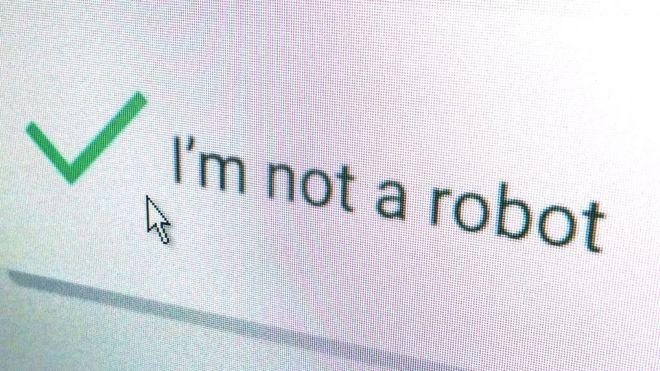 I'm not a robot - Captcha form